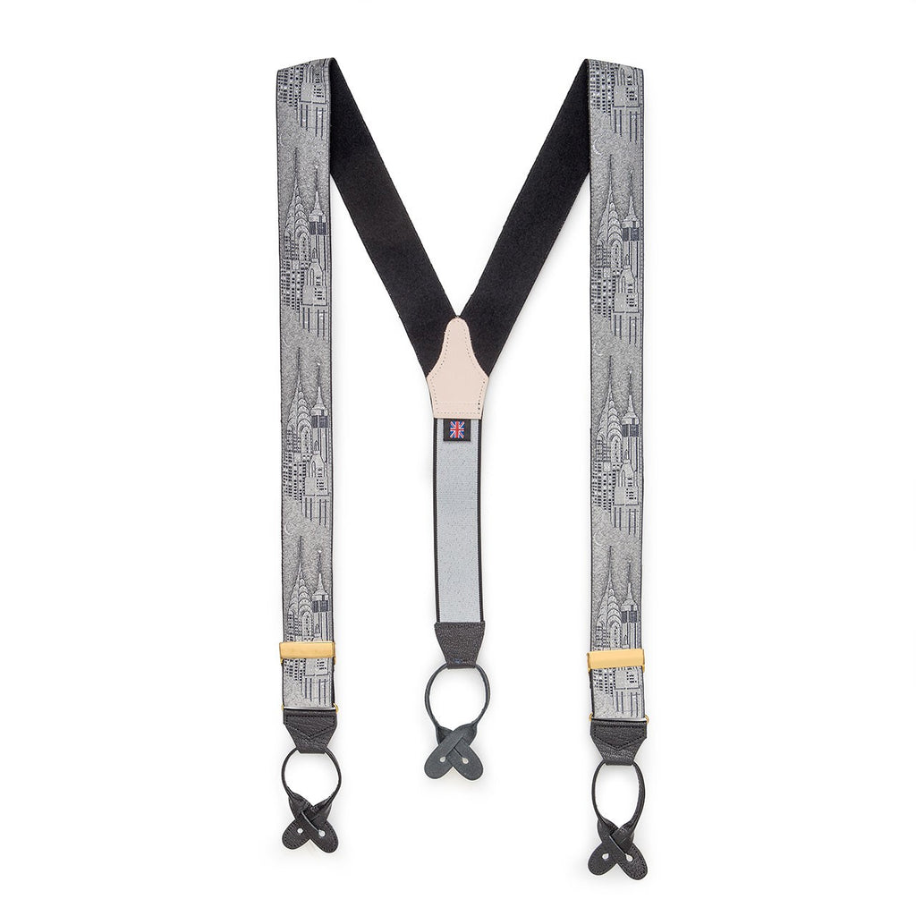 Limited Edition Braces, New York | Suspenders | Budd Shirtmakers | Made in England-Braces / Suspenders-Sterling-and-Burke