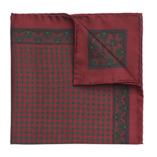 Load image into Gallery viewer, Budd Small Paisley Madder Silk Pocket Square, Various Colors-Pocket Square-Sterling-and-Burke