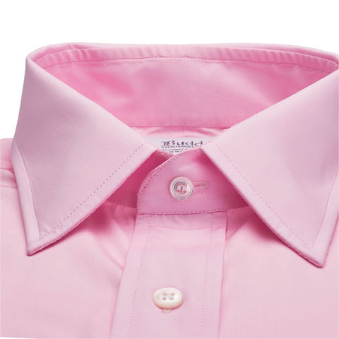 Ready Made Shirt | Swiss Soyella Shirt | Pink | Budd Shirtmakers-Ready Made Shirt-Sterling-and-Burke