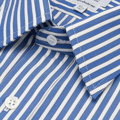 Ready Made Shirt | Budd Stripe | Edwardian Blue | Budd Shirtmakers-Ready Made Shirt-Sterling-and-Burke