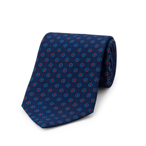 Daisy Madder Tie | Silk | Budd Shirtmakers | Made in England