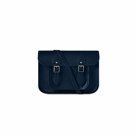 11 Inch Satchel with Magnetic Closure, Navy