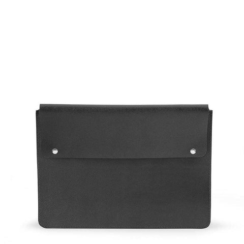 15 Inch Laptop Cover, Black Saffiano
