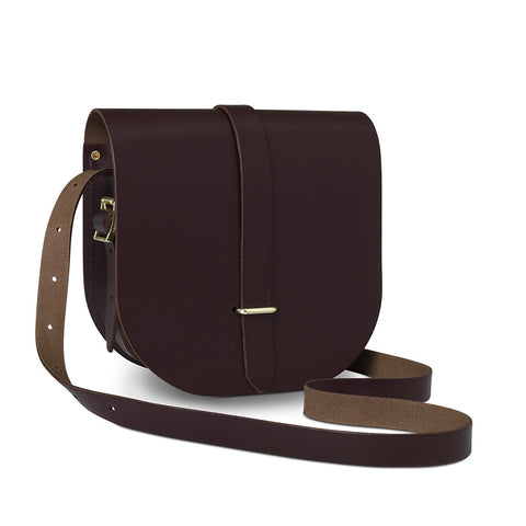 Large Saddle Bag, Damson