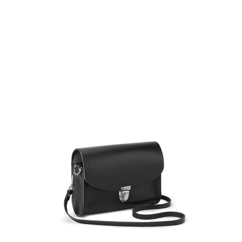 Push Lock Handbag, Medium, Black