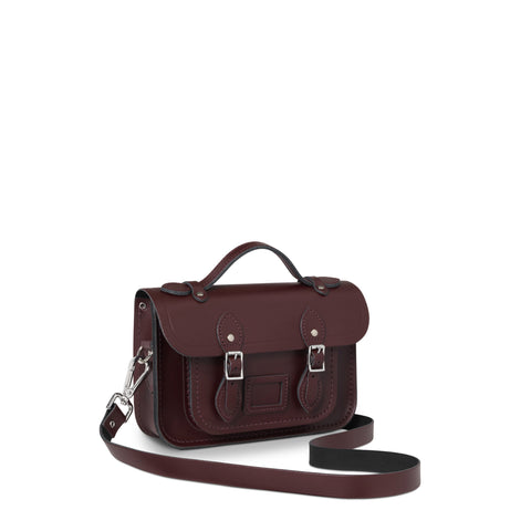11 Inch Satchel with Magnetic Closure, Oxblood