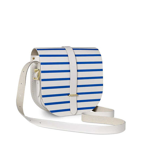 Saddle Bag, Small, Breton Blue Stripe