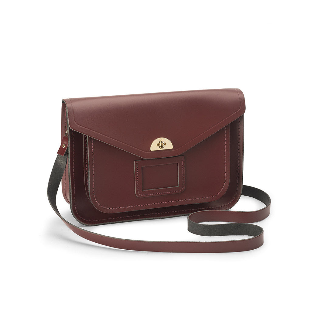 Medium Twist Lock Satchel, Oxblood-Handbag-Sterling-and-Burke