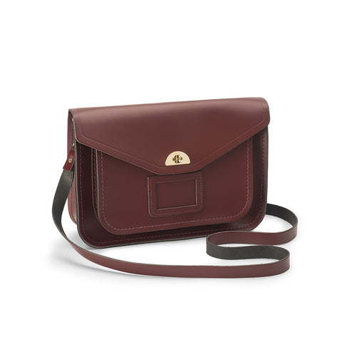 Medium Twist Lock Satchel, Oxblood