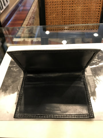 Sterling & Burke Ltd Black Foldover Wallet-Card Wallet-Sterling-and-Burke