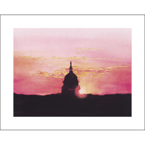 Capitol Morning | Printed Card | 5 by 7 Inches | Artist Carole Moore Biggio-Greeting Cards-Sterling-and-Burke