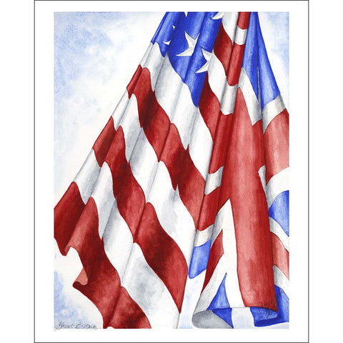 "Great Britain | Print Card with Pencil Signature by Carole Moore Biggio | 5"" x 7""-print card-Sterling-and-Burke"