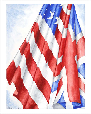 Great Britain | Limited Edition Giclee Print | Carole Moore Biggio | 5 by 7 Inches-Greeting Cards-Sterling-and-Burke