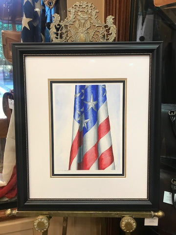 "American Beauty | Original Watercolor by Carole Moore Biggio | Framed | 24"" x 21""-Watercolor-Sterling-and-Burke"