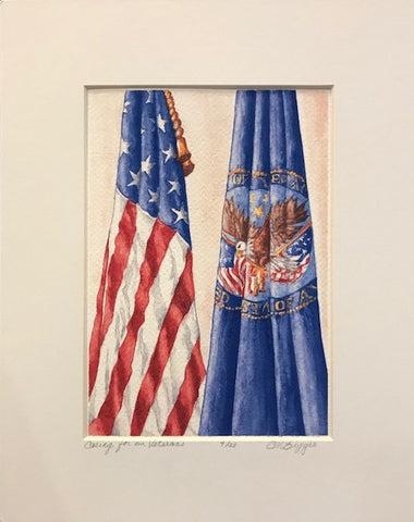 "Caring for our Veterans | Limited Edition Giclee Print with Mat by Carole Moore Biggio | 10"" x 8"""