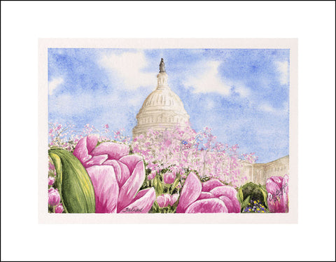 "Tulips | Limited Edition Giclee Print by Carole Moore Biggio | 5"" x 7"""