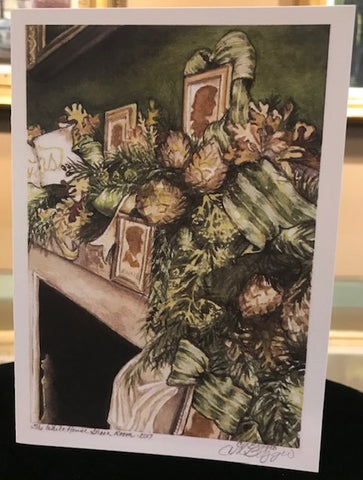 "Art | White House Green Room | Print Card by Carole Moore Biggio | 7"" x 5"""