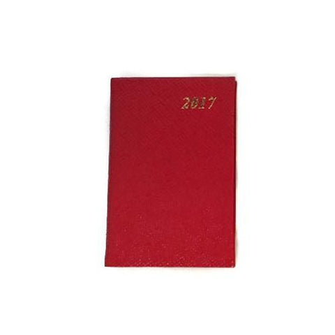 2017 5 by 3 Diary, Crossgrain Leather-Calendar-Sterling-and-Burke