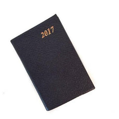 Year 2019 Diary, 5 by 3 | Crossgrain Leather | D753L-Calendar-Sterling-and-Burke