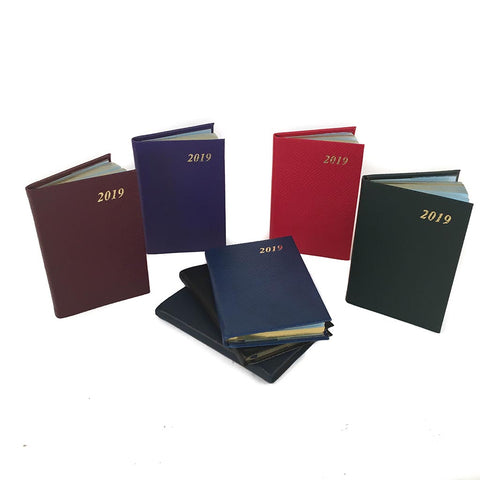 Year 2019 Diary, 3 by 2 | Crossgrain Leather | D732L