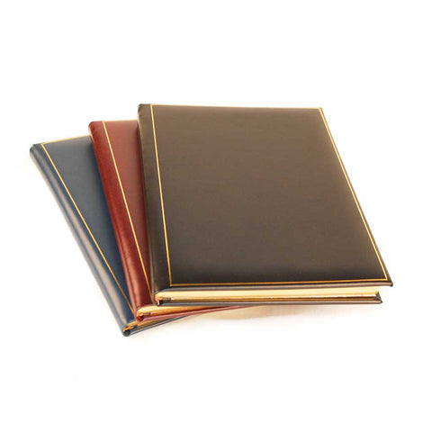 Calf Note Book | Guest Book | Leather Bound with Gold | Superior Quality | 10 by 8 Inches | Lines