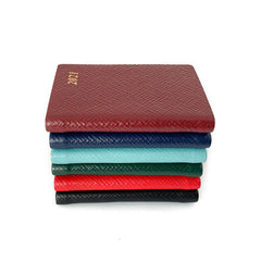 "Charing Cross 2021 3"" Crossgrain Leather Pocket Calendar in Burgundy-Calendar-Sterling-and-Burke"