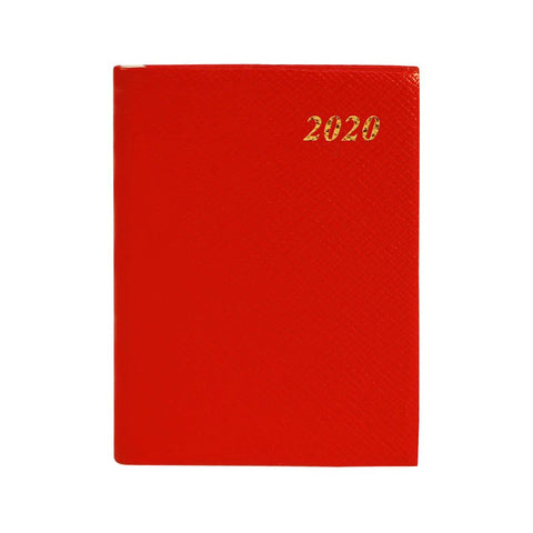 "2020 4"" Crossgrain Leather Pocket Calendar 