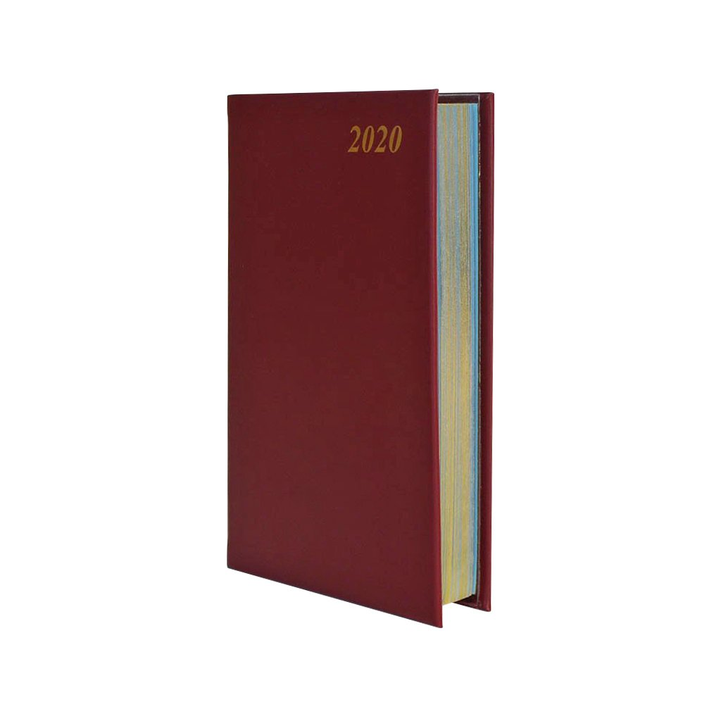 "2020 5"" Calf Leather Pocket Calendar 