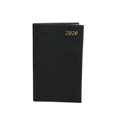"2020 5"" Crossgrain Leather Pocket Calendar 