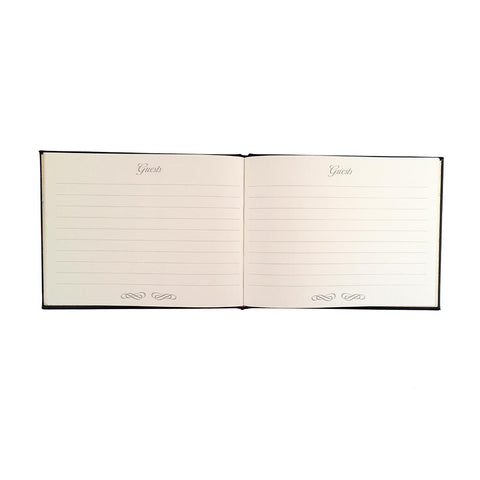 Guest Book | Fine Calf Leather Binding | Gold Tooling | 7 by 9 Inches | Guests-Guest Book-Sterling-and-Burke