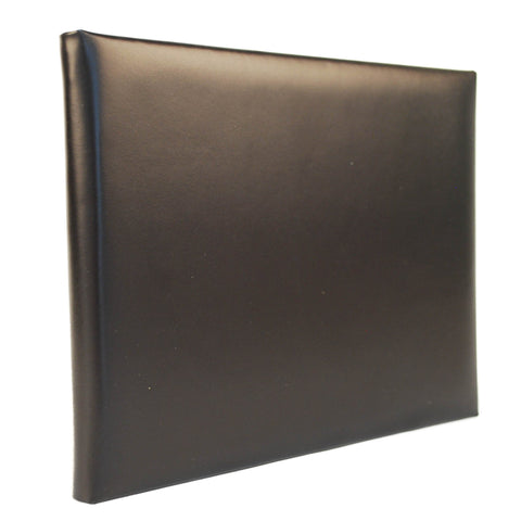 Leather Guest Book | Leather Visitors Book | Guests with Lines Interior | Thin | 7 by 9 Inches | Hand Made in England | Charing Cross-Guest Book-Sterling-and-Burke