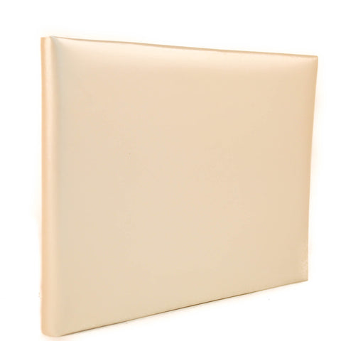 Wedding Anniversary Guest Book | Pearl Leather Cover |  Guests with Lines Interior  | Thin | 7 by 9 Inches | Charing Cross