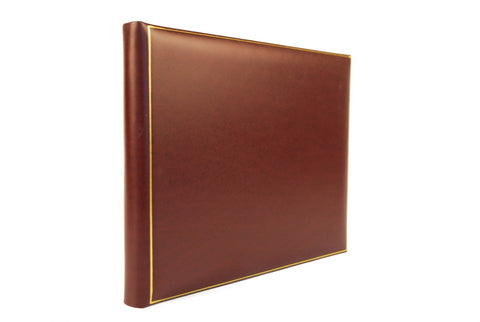 Guest Book | 8 by 10 Inches | Superior Quality Smooth Calf | Blank Pages | Hand Made in England | Charing Cross-Guest Book-Sterling-and-Burke