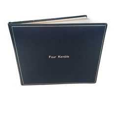 Guest Book Personalization Samples, 7 by 9 Inches | Calf Leather | Made in England-Guest Book-Sterling-and-Burke