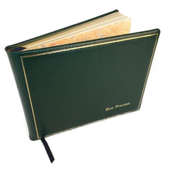 Guest Book Personalization Samples, 7 by 9 Inches |Calf Leather | Made in England-Guest Book-Sterling-and-Burke