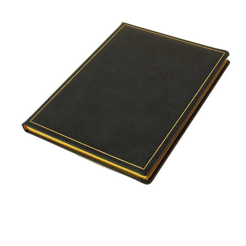 Leather Notebook / Guest Book, 10x8 | Vertical | Buffalo Calf | Blank Pages | Charing Cross-Notebooks-Sterling-and-Burke