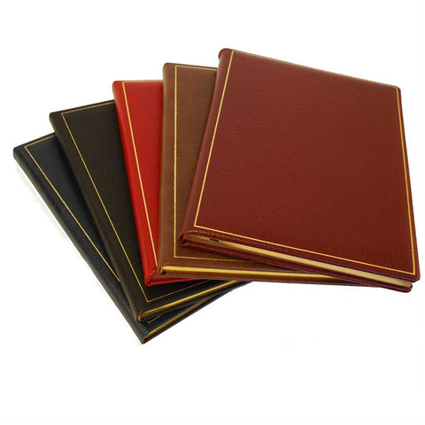 Leather Notebook / Guest Book, 10x8 | Vertical | Buffalo Calf | Blank Pages | Charing Cross