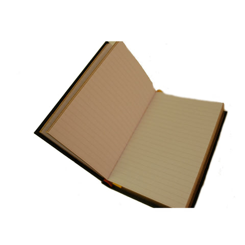 "Crossgrain Leather Notebook, 6x4, ""The District""-Titled Notebooks-Sterling-and-Burke"