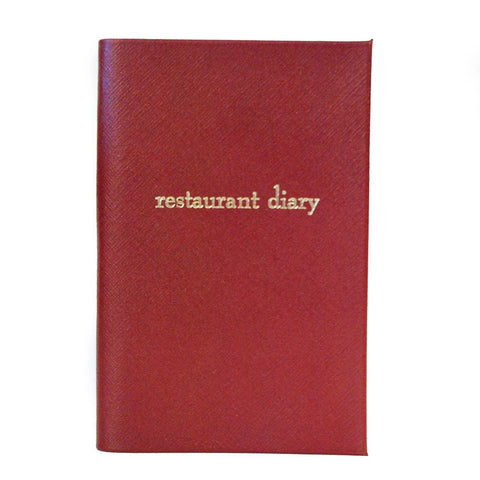 """Restaurant Diary"" Crossgrain Leather Notebook, 7 by 4 Inches"