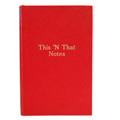 """This 'N That Notes"" Crossgrain Leather Notebook, 7 by 4 Inches"