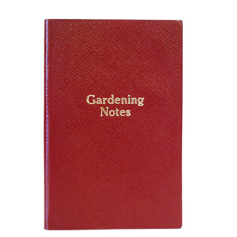 """Gardening Notes"" Crossgrain Leather Notebook, 7 by 4 Inches"