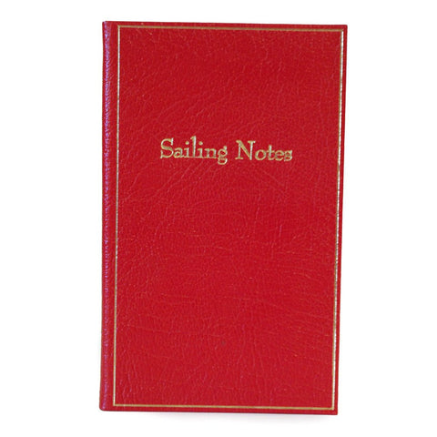 """Sailing Notes"" Calf Leather Notebook, 7 by 4 Inches-Titled Notebooks-Sterling-and-Burke"