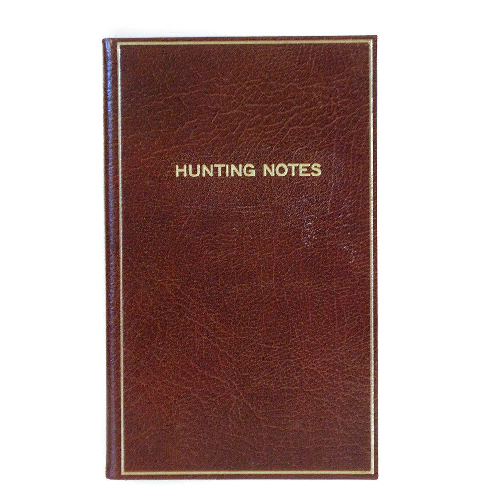 """Hunting Notes"" Calf Notebook, 7 by 4 Inches by Charing Cross-Titled Notebooks-Sterling-and-Burke"