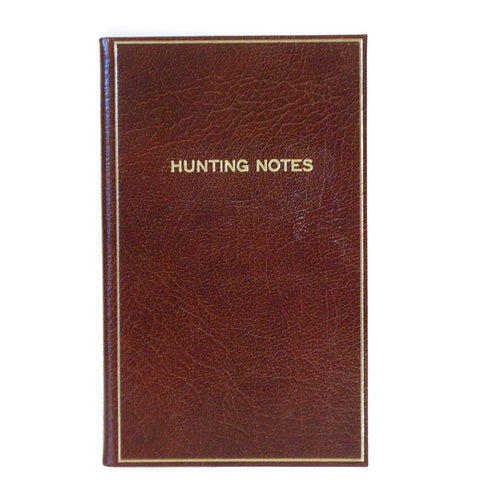 """Hunting Notes"" Calf Notebook, 7 by 4 Inches-Titled Notebooks-Sterling-and-Burke"