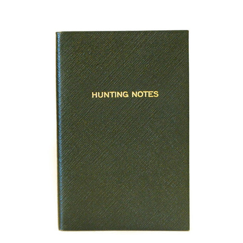 """Hunting Notes"" Crossgrain Leather Notebook, 7 by 4 Inches"