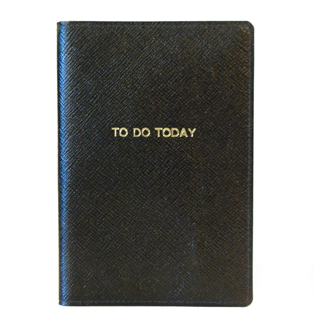 "Leather Cover with Removable Notes, 6x4, ""To Do Today""-Titled Notebooks-Sterling-and-Burke"