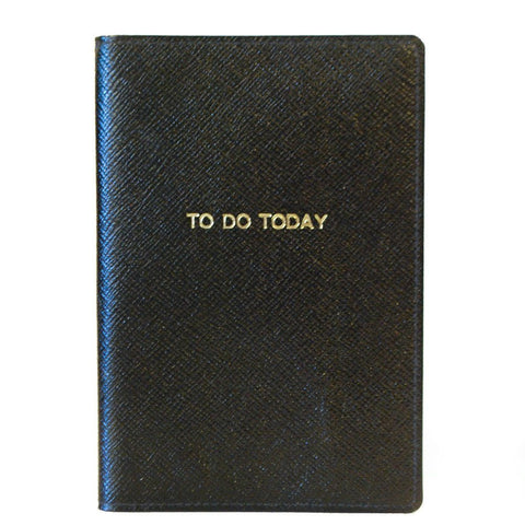 "Leather Cover with Removable Notes, 6x4, ""To Do Today"""