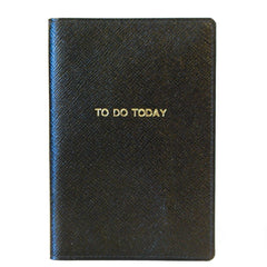 """To Do Today"" Leather Cover with Removable Notes, 6 by 4 Inches-Titled Notebooks-Sterling-and-Burke"