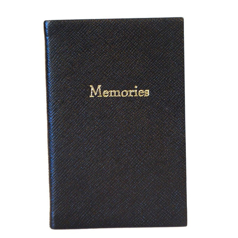 "Crossgrain Leather Notebook, 6x4, ""Memories"""