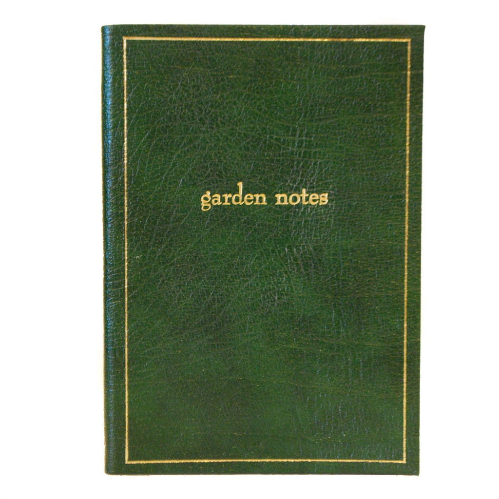 "Calf Notebook, 8x6, ""Garden Notes""-Titled Notebooks-Sterling-and-Burke"